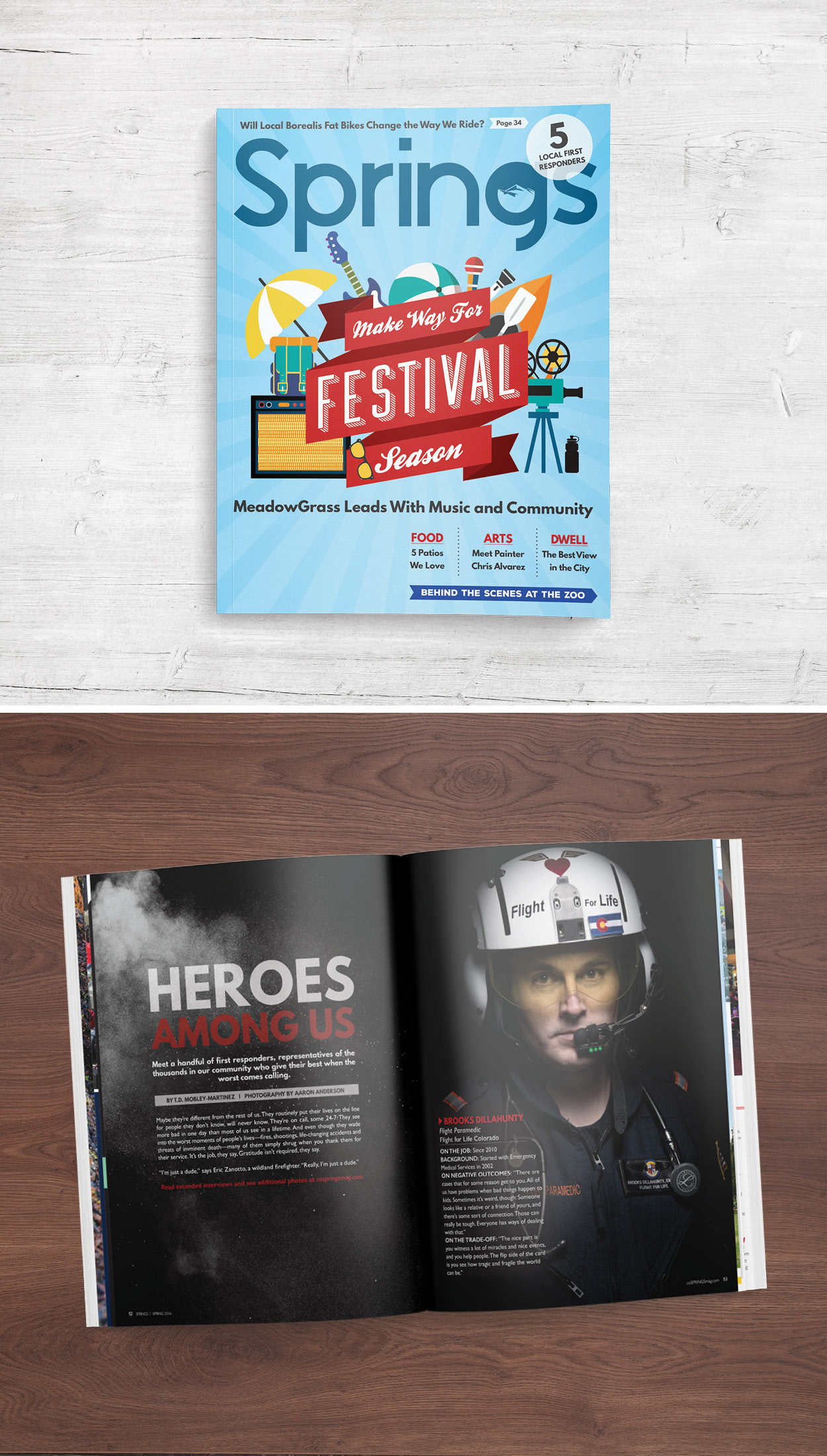SPRINGS MAGAZINE, THE FESTIVAL GUIDE